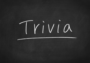 weekly events - trivia